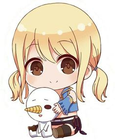 Lucy and Plue chibi Fairy Tail ルーシィ, Fairy Tail Drawing, Fairy Tale Anime, Fairy Tail Family, Fairy Tail Girls, Fairy Tail Manga, Chibi Kawaii, Cute Chibi, Fairy Tail Characters
