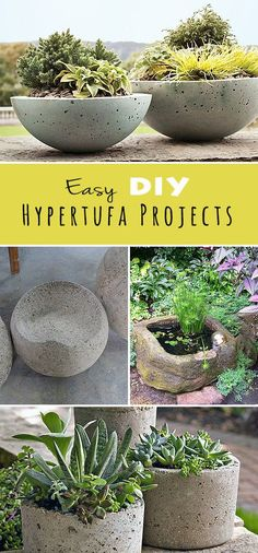 Easy DIY Hypertufa Projects! • Lots of step by step tutorials and projects!