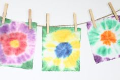 Tie Dye Bunting with Baby Wipes