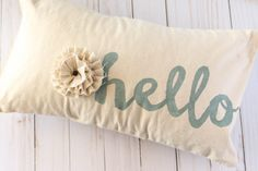 Stenciled Pillow - The Creative Studio