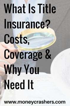 What is title insurance exactly?