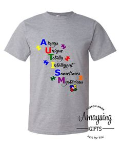 SVG - Autism Unique - Digital Vector Download Fantastic Autism Quote Design great for Tshirts, Wall Art, Scrapbook layouts, publications and so much more.  This listing is for the DESIGN SVG ONLY  If you are interested in the Tshirt Please order from the url below: http://amaysinggifts.com/amaysing-gifts-products/autism-unique-tshirt  ************************************************************************************  This Listing includes: 1 SVG, 1 DXF 1 EPS & 1 PNG ...
