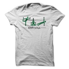 Irish Yoga T Shirts, Hoodies. Check price ==► https://www.sunfrog.com/Drinking/Irish-Yoga-90784224-Guys.html?41382