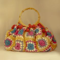 The gorgeous Festival Afghan Bag in Cornfield yellow