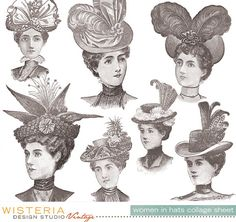 Vintage Women In Hats - 8.5x11 Collage Sheet - by WDSVintage, $4.00