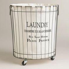 Claudette Wire Hamper at Cost Plus World Market >> #WorldMarket Laundry Organization