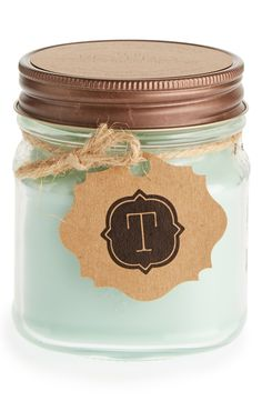 Love this personalized mini mason jar candle.