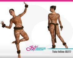 Tuta accademica leopardata con coda per rappresentare felini - Modello JD277 #tuteaccademiche #danzamoderna #musicalcats #costumidanza