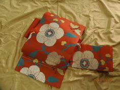 アンティーク◆正絹◆蝶と枝花◆織 名古屋帯◆大正ロマン 2360_画像1