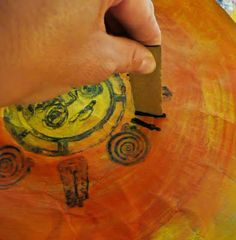 Making an Aztec sun stone with paper