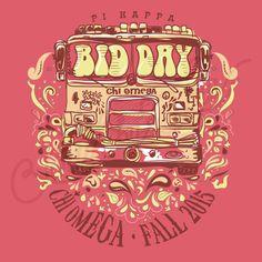 Chi Omega | Pi Kappa | Bid Day Shirt Designs | Bus Shirt Design | Hippie Design | Vintage Design | Retro Design | South by Sea | Greek Tee Shirts | Greek Tank Tops | Custom Apparel Design | Custom Greek Apparel | Sorority Tee Shirts | Sorority Tanks | Sorority Shirt Designs