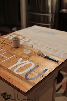 DIY Sign by The Wood Grain Cottage