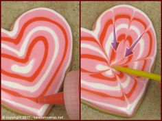 Valentine Hearts « Karen's Cookie Blog. Lots of different ways to decorate them.