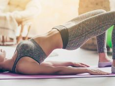 5 Yoga Poses to Relieve Period Cramps - mindbodygreen Fitness Workouts, Training Fitness, Butt Workout, Yoga Fitness, Circuit Fitness, Physical Fitness, Relieve Period Cramps, Best Home Workout Program, Thighs