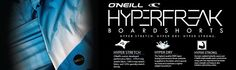 O'Neill made a new #boardshorts product that can last longer with hyper stretch, hyper dry, and hyper strong features. Check it out by clicking the image above.