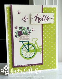 stampin up bike ride Scrapbooking, Scrapbook Cards, Bicycle Cards, Stampin Up Catalog, Stamping Up Cards, Get Well Cards, Tampons, Paper Cards, Cool Cards