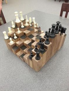 Picture of 3D Chess Board