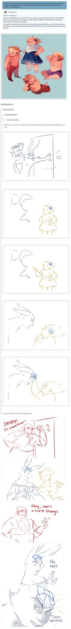 Rise of the Guardians | Sandy, Bunnymund, North