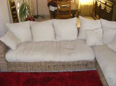 Canapé osier