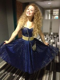 I actually love her dress style Carrie Hope Fletcher, Role Models, Red Hair, Carry On, Retro Fashion, Curly Hair Styles, Ball Gowns, Cool Outfits, Style Inspiration