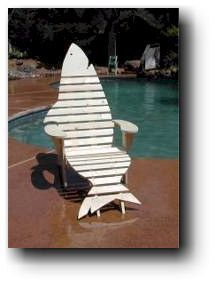 Adirondack Shark Chair & Footrest Woodworking Plans