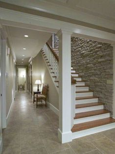 Image result for stone wall stairs basement