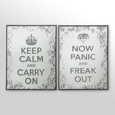 Can't we just calmly panic?