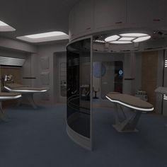 Excelsior Class, Star Trek Episodes, Spaceship Interior, Star Trek Ships, Star Trek Voyager, New Environment, Futuristic Architecture, Creating A Brand, Online Portfolio