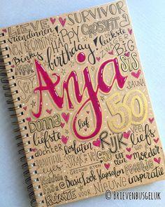Notitieboekje 'Anja 50' www.brievenbusgeluk.nl