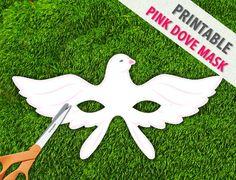 Printable+Dove+Mask++Pink+Dove+Mask++Printable+by+theRasilisk,+$3.99