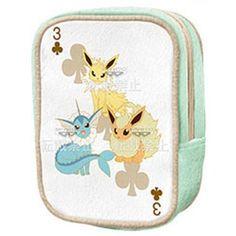 "Amazon.com: Pokemon ""I Love Eevee"" Zipper Pouch Bag Plush Banpresto - Jolteon Vaporeon Flareon: Toys & Games O.O"