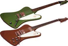 1964 Gibson Firebird I  (Inverness Green) plus 1965 Firebird III (Aztec Bronze)
