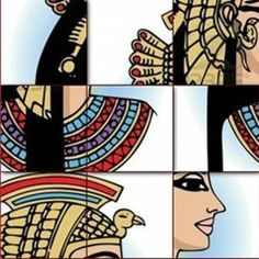 Puzzles ANTIGUO EGIPTO para niños Ancient Egypt Crafts, Egyptian Crafts, Ancient Civilizations, Classroom Themes, First Day Of School, Face Art, Book Activities, Art Lessons, Street Art