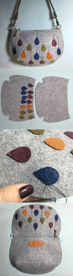 Felt Bag Tutorial ~                                                                                                                                                      More