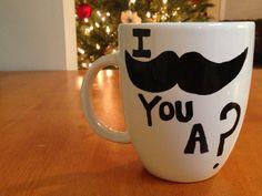 DIY painted mugs #DIY #mugs #gifts #Christmas