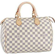Louis Vuitton Damier Azur Canvas Speedy 30 takes its name from the famous cinema star. Original and sophisticated, it combines metal and leather details with a feminine look. Louis Vuitton Speedy 30, Louis Vuitton Neverfull, Louis Vuitton Wallet, Louis Vuitton Handbags, Lv Handbags, Designer Handbags, Vuitton Bag, Designer Bags, Stylish Handbags