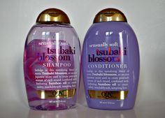 A review of Organix brand new shampoo and conditioner sensually soft tsubaki blossom.