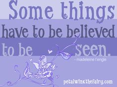 """Sometimes we gotta believe the good even before we see it <3 Pls """"like"""" Petalwink on FB if you agree ;-)"""