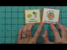 Intro to Make Lemonade + 2 mini cards from start to finish { Lawn Fawn }