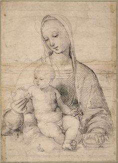 RAPHAEL (Raffaello Sanzio da Urbino) (1483-1520) ~The Madonna of the Pomegranate