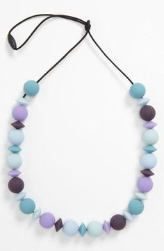 Let your little one teeth in style. Teethease 'The Medley' Teething Necklace.