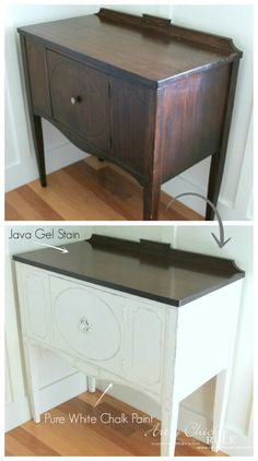 Java Gel Stain for to of TV cabinet