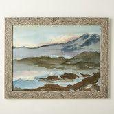 Landscape Watercolor Framed Print #birchlane