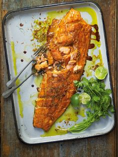 Curry Baked Salmon with Lime & Coriander