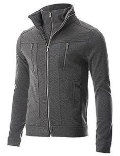 FLATSEVEN Mens Slim Fit Casual Jacket Double Zip-up High Neck (JK402) Grey, S FLATSEVEN http://www.amazon.com/dp/B00NHCPH3S/ref=cm_sw_r_pi_dp_Lbf1ub04GCDQ9 #FLATSEVEN #jacket #casual