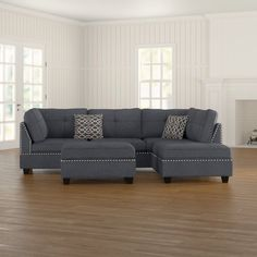 Charlemont Reversible Sectional with Ottoman Living Room Kitchen, Living Room Sets, Living Spaces, Couch With Ottoman, Sofa Dimension, Clean Sofa, Best Sectionals, Chaise Sofa, Sectional Sofas