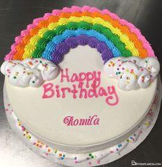 Round Birthday Cakes, Unique Birthday Cakes, Birthday Sheet Cakes, Happy Birthday Cakes, Rainbow Birthday Cakes, Birthday Cake For Kids, 5th Birthday, Birthday Ideas, Cupcake Birthday Cake