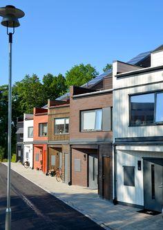 Kv. Spinnakern. A rowhouse projekt in Västerås, Sweden. Anders Holmberg Arkitekter