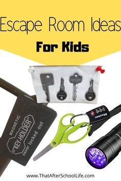 Escape Room Ideas for Kids - That After School Life - - Get kids thinking and developing teamwork skills by creating your own escape room. These puzzle ideas will help you make a perfect escape room for kids. Room Escape Games, Escape Room Diy, Escape Room For Kids, Escape Room Puzzles, Escape Box, Games For Kids, Activities For Kids, Escape Room Challenge, Teamwork Skills