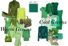 Warm vs Cool Greens   MAKE SURE U KNOW WHICH ONE U CAN WEAR!